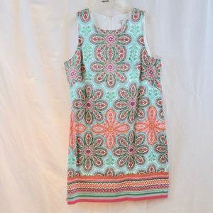 Sleeveless zippered back dress